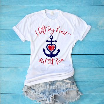 I Left My Heart Out at Sea Cruise Shirt