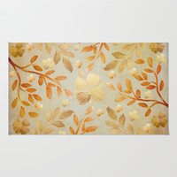 Golden Autumn Rug by Lisa Argyropoulos