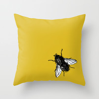 Golden Square Throw Pillow by Yilan Wang