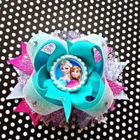 Frozen boutique glitter bow
