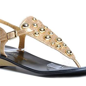CHINESE LAUNDRY VOLUME STUDDED THONG SANDALS
