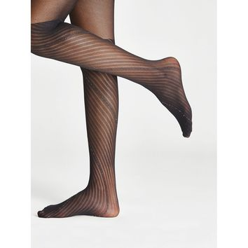 Striped & Net Tights