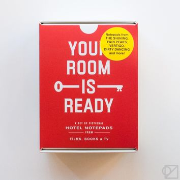 Your Room Is Ready: Eight Notepads for Fictional Hotels