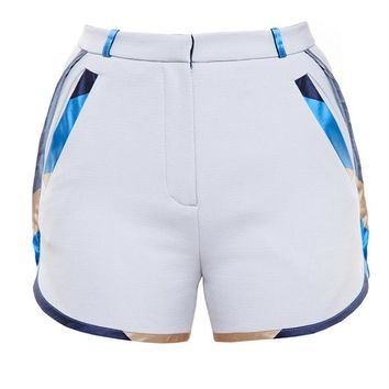 Shorts with Silk Mikado Trim - OSTWALD HELGASON