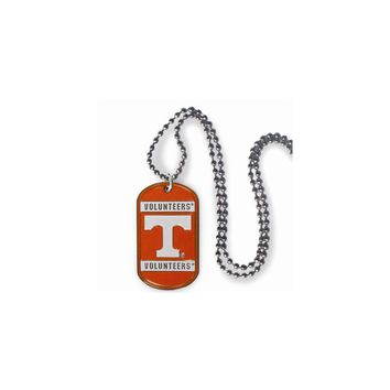 Collegiate Tennessee 20 inch Dogtag Chain Necklace