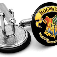 Harry Potter Hogwarts Shield Cufflinks