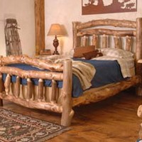 Log Bed Homestead Log Bedroom Furniture - Free Shipping!