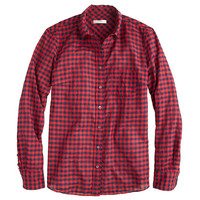 J.Crew Womens Crinkle Boy Shirt In Red Check