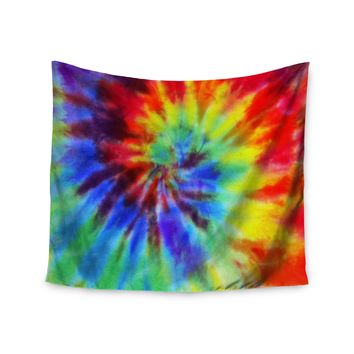 """Rainbow Tie Dye""Bright Color Swirl Trendy Boho Wall Tapestry"