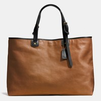 BLEECKER LEATHER HOLDALL