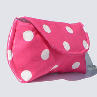 Oversized Sunglass Case - Hot Pink Polka Dot - 2 color choices - Free USA Shipping