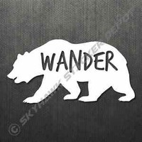 Wander Grizzly Bear Sticker Decal Car Truck Bumper Sticker Laptop Macbook Decal
