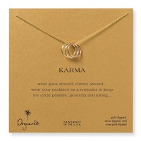 Dogeared Triple Karma Mixed Metals Necklace, 18""