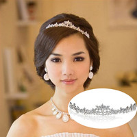 Wedding Elegant Bridal Prom Crystal Butterfly Flower Tiaras Crown Hair Head Band Hairband Headbands Jewelry Ornament Accessories