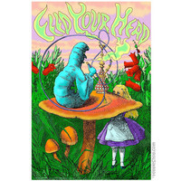 Alice in Wonderland Feed Your Head Poster on Sale for $7.95 at The Hippie Shop