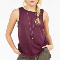 Truly Madly Deeply Oversized Pocket Tank Top
