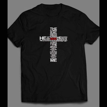 """THE LORD'S PRAYER """"THE LORD IS MY SHEPARD"""" CHRISTIAN T-SHIRT"""