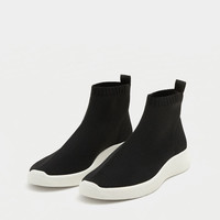 Fabric sock-style sneakers - See all - Shoes - Woman - PULL&BEAR France