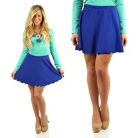 Edge of Glory Skirt in Royal Blue
