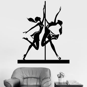 Vinyl Wall Decal Striptease Pole Dance Dancer Stripper Stickers Unique Gift (1031ig)