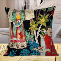 Frida Kahlo Decorative on Square Pillow Cover