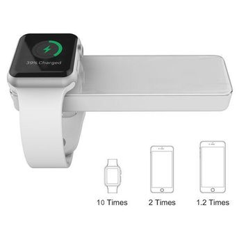 ICIK4S2 MFi Certified Apple Watch and iPhone Portable Charger, TOPVISION 4000mAh iWatch Magnetic Wireless Power Bank Battery, One 2 in 1 Lightning Cable (1M) Included, Perfect Gifts (White)