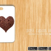 Iphone 4 - Iphone 4s - Iphone 5 - Black or White - Coffee Heart - Starbucks - Cute - Protective Hard Case - 15% Off until 4/7