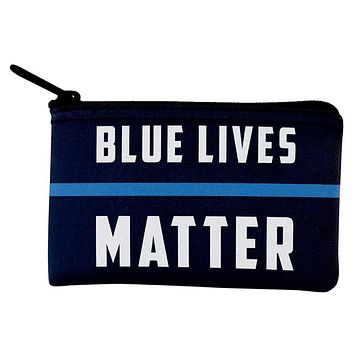 Police Blue Lives Matter Thin Blue Line Coin Purse