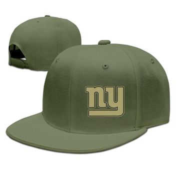 New York Giants Salute To Service Logo Printing Unisex Adult Womens Snapback Caps Mens Hip-hop Cap