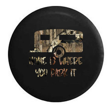 Home is Where You Park It RV Camper Jeep Spare Tire Cover