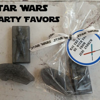 Star Wars Party Favors Tags Included - Han Solo & Millennium Falcon soaps, bags and tags included for Kids Birthday Party Favors, Pack of 20