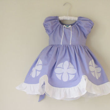 Sofia the First Cotton Everyday Princess Dress- sizes 3m 6m, 12m, 18m, 2, 3, 4, 5, 6, 7, 8