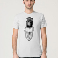 Owl Shirt - Tooth Shirt - Wisdom Tooth - Wise Owl - Dental Tshirt - Dentist Gift - Molar Tooth - Tooth Illustration - Tooth T-Shirt
