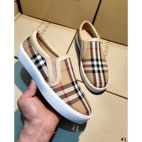 Burberry 2019 new wild female models a pedal casual canvas shoes #1