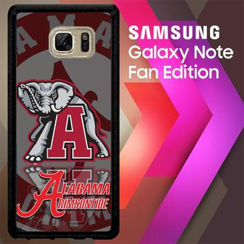 Alabama Crimson Tide X3309 Samsung Galaxy Note FE Fan Edition Case