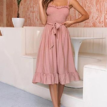 Avery Bow Midi Dress