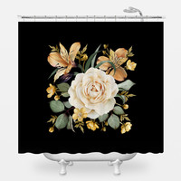 Evening Rose Shower Curtain