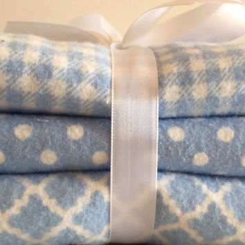 Baby boy burp cloth flannel burpcloth powder blue gender neutral baby girl blue gingham cotton crib protector changing pad bedding layette