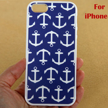 iPhone 5 Case Nautical Anchor iphone 5 case navy by belindawen