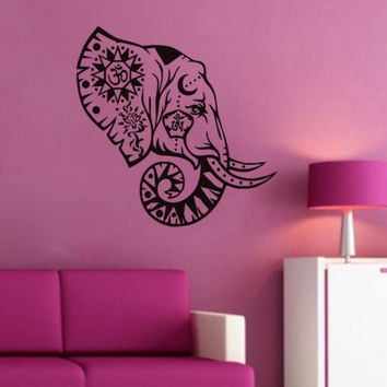 Elephant OM Vinyl Wall Decal