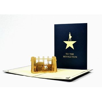 Hamilton The Musical Pop-Up Notecard
