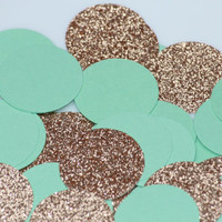 Mint Green & Gold Confetti