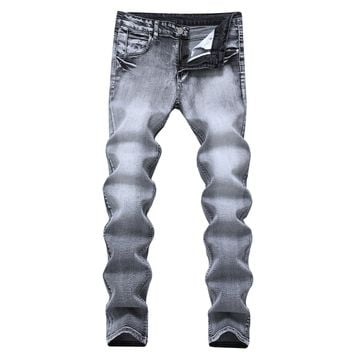 Men Stretch Men's Fashion Denim Jeans [127703089181]