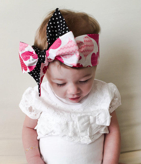 Valentine Baby Headwrap - Valentine Big from CollectiveCreationsC 69b5c759a42