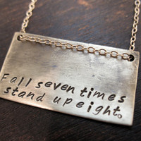 Fall Seven Times Stand Up Eight Necklace