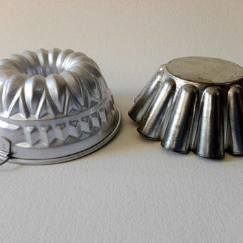 Old French charlotte mold, French vintage, food mold, aluminium, baking mold, charlotte , pastry, cake mould, vintage mold, cake mold