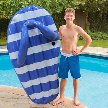 180CM Giant Inflatable Stripe Slipper Slice Flip Flop Pool Float for Adult Ride On Water Toy Slippers Swimming Ring Boia Piscina