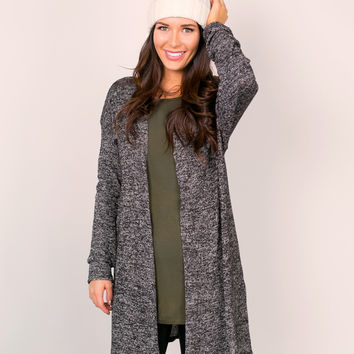 Marled Open Duster- Plus Size!