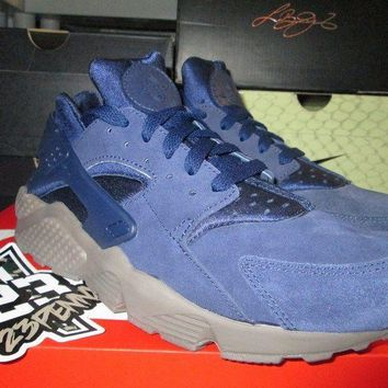 SALE NIKE AIR HUARACHE RUN SE BINARY BLUE 852628 400 SZ 8-13 NEW SUEDE PREMIUM