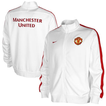 Manchester United Nike N98 Authentic Track Jacket – White - http://www.shareasale.com/m-pr.cfm?merchantID=7124&userID=1042934&productID=547708655 / Manchester United FC